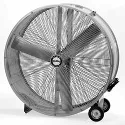 "36"" Belt Driven Drum Fan, 2-Speed 1/2 HP"
