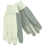 White Canvas Knit Wrist Work Glove