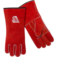 Red USA Split Cow Cotton Lined Welders Glove