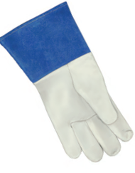 "Premium Grain Kidskin Unlined Blue 4"" Cuff TIG Glove"