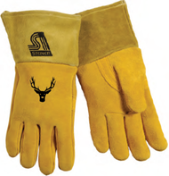"SOF-Buck II Reverse Grain Deerskin Foam/Fleece Lined Back 4"" Cuff MIG Glove"
