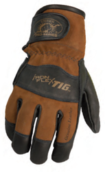 Black Premium Grain Kidskin Adjustable TIG Glove