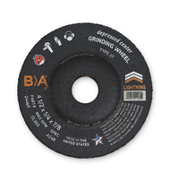 4 1/2 x 1/4 x 5/8-11 A24R  Type 27 Grinding Wheel