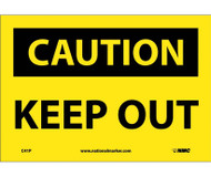 CAUTION, KEEP OUT SIGN