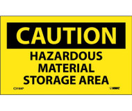 CAUTION HAZARDOUS MATERIAL STORAGE AREA LABEL PK/5