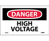 DANGER HIGH VOLTAGE LABEL PK/5