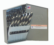 29 Piece Drill Set, HSS, Fractional, MRO Series, Black & Bright Finish