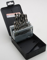 21 Piece Drill Set, Fractional, HSS, Bright Finish