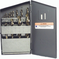 14 Piece Drill Set, Fractional, HSS, Bright Finish