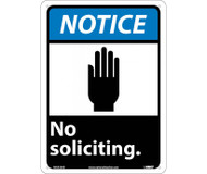 "NOTICE NO SOLICITING SIGN 10"" x 14"""