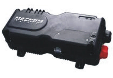 The Magnum MM1512AE fan-cooled 12 Volt Inverter/Charger produces up to 1500 Watt continuous and up to a 2100 Watt surge.