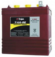 Slightly more rugged than the T-105 with a better warranty, the T-105-RE wet-cell battery comes with a 24 month free replacement 5-Year warranty. *Price includes core charge. **Minimum Order of 4.
