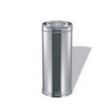 """M & G Duravent Stainless Steel Triple Wall Pipe 6"""" by 24' long is perfect for the small cabin wood stove that does not have an outdoor chimney to protect the pipe."""