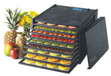 The Excalibur 2900ECB Food Dehydrator comes with 9 trays to accelerate processing. With 15 Sq. Feet of drying capability, you can process food in bulk.