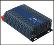 The Samlex SAM-2000-12 fan-cooled 12 Volt Inverter produces up to 2000 Watt continuous and up to a 4000 Watt surge. This inverter's GFCI protection does not allow it to be tied to an electrical panel that has a neutral/ground bond.  It has a floating neutral.  This inverter is really designed as a stand alone system designed to plug into its 3 outlets.  Low voltage alarm with soft start, it also has thermal, battery, overload, short circuit, and GFCI protection.  USB charging port included.  It can easily run appliances, computers, lights, TV's and Fridge.  Comes with a 2 year warranty.