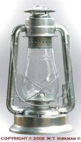 The W. T Kirkman #2 Champion lantern is their largest lantern. It comes with a 31 fl. oz. capacity allowing it to burn for 27 hours! Tough, galvanized construction makes it last in harsh conditions.