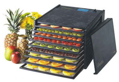 The Excalibur 2900ECB Food Dehydrator comes with 9 trays to accelerate processing. With 15 Sq. Feet of drying capability, you can process food in bulk. 5 Year Limited Warranty. Made in USA.