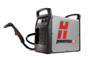 "The Powermax85 combines the latest technological innovations and seven Duramax™ series torch options with 85 amps of cutting power to make it the premier 1"" air plasma system for handheld or mechanized cutting and gouging."