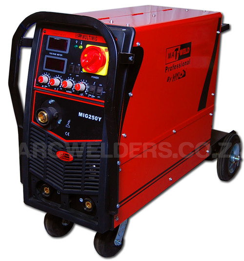 The Matweld MIG 250Y is a professional level multi process welder ideally suited for the DIY enthusiast to professional welder or fabricator.