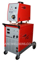 The Matweld 350 MIG is a fully Industrial Silicone rectifier type welder. Suitable for Heavy Duty applications, with a 60-360amp range with 30 setting Step Controlled Transformer Technology.