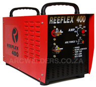 The Reeflex 400amp Arc inverter features 100% duty cycle at 400amps, the unit is built with high quality European components and Siemens IGBT's. Features arc force adjustment and Lift TIG. A very popular machine in the mining and industrial sector.