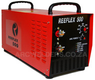 The Reeflex 500amp Arc inverter features 100% duty cycle at 500amps, the unit is built with high quality European components and Siemens IGBT's. Features arc force adjustment and Lift TIG. A very popular machine in the mining and industrial sector