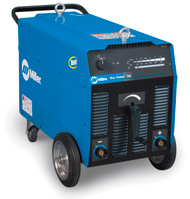 The Miller Blue-Thunder 340 is an industrial stick welding system with large welding parameter display, heavy duty running gear. Robust, reliable construction. Industrial Rated Components & Construction designed to provide long lasting, trouble free performance.