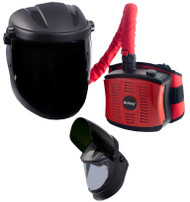 Weltek Navitek Airkos DIN 5  Passive Flip Front Air Fed Welding Helmet for Grinding and Cutting