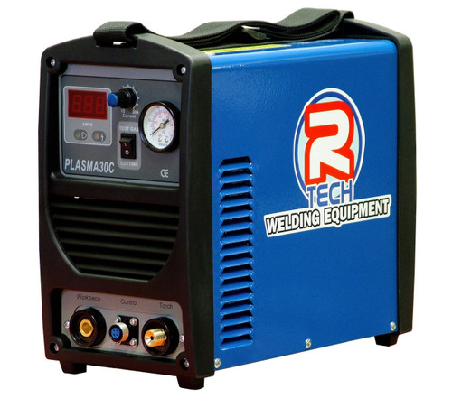 The R-Tech P30C plasma cutter features a massive 8mm genuine clean cut, high frequency arc starting and low cost, long life consumables