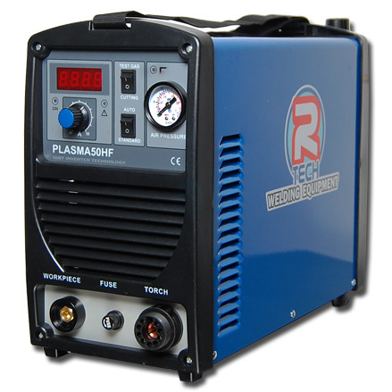 The R-Tech P50HF is a heavy duty machine with a massive 18mm genuine clean cut, high frequency arc starting, pilot arc re-start and cost effective - long life consumables.
