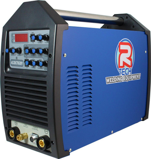 The TIG 201 AC/DC 200Amp Inverter TIG Welder features patented HF microstart, AC squarewave adjustment to 250hz, pulse welding, slope up/down, LED display and high 60% duty cycle at 200 amps.