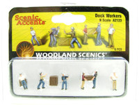 Woodland Scenics A2123 N DOCK WORKERS FIGURES Train Scenery People Men bcg