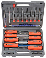 SCREWDRIVER SET 32 Pc New Tools Blow-Mold Tool Case bcg