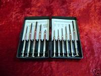 PRECISION SCREWDRIVER Set 11 Pc Hobby Tools Handy Case z