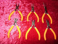 "PLIERS 6 Pc Set 4"" w/ Cutters Nipper Hobby Floral New z"