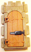 Playmobil 3666 Castle Parts WALL DOOR WITH LOCK Kings Knights bcg
