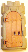 Playmobil 3666 Castle Parts Tower ROUND WALL DOOR NL Kings Medieval Knights bcg