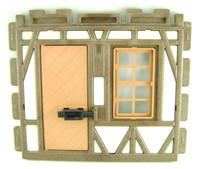 Playmobil 3666 Castle Parts House WALL DOOR WINDOW HTF Kings Medieval Knights bcg