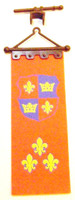 Playmobil 3666 Castle Parts BANNER FLEUR DE LIS FLAG Kings Medieval Knights bcg