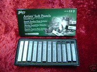 PASTEL CHALK Set 12 GRAY TONES Weathering Model Trains Hobby Arts z