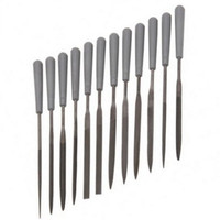 NEEDLE FILE SET WITH HANDLES 12 Pc Hobby Tools Files Scale Modeling Trains bcg