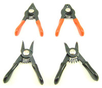 MINI SNAP RING PLIERS 4 Pc Hobby Tool Set for S & R Clips bcg