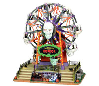 Lemax 04162 WHEEL OF HORROR Spooky Town Carnival Halloween Decor z