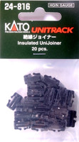 Kato 24816 N HO UNITRACK INSULATED UNIJOINER Train Track Joiners bcg