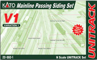 Kato 208601 N UNITRACK MAINLINE PASSING SIDING SET V1 bcg