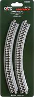 "Kato 20110 N UNITRACK CURVED TRACK R11"" 45 Degree Train Gray bcg"