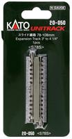 "Kato 20050 N UNITRACK EXPANSION TRACK 3"" to 4-1/4"" Train Gray bcg"