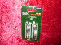 "Kato 20040 N UNITRACK 2-7/16"" STRAIGHT TRACK (4) S62 Gray Train New z"