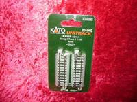 """Kato 20040 N UNITRACK 2-7/16"""" STRAIGHT TRACK (4) S62 Gray Train New z"""