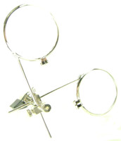 JEWELER'S EYE LOUPE Hobby Tool Clips onto Eye Glasses Clip on bcg